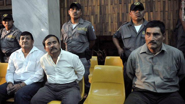 From left: Daniel Mendez, Collin Gualip and Manuel Pop Sun were sentenced to 6,060 years in prison for military murder.
