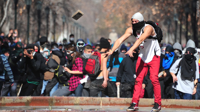 Police say more than 60,000 demonstrators protested in Santiago, CNN Chile reported.