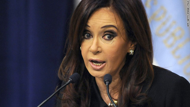 President Cristina Fernandez de Kirchner is seeking a second four-year term.