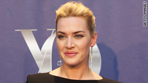 Actress Kate Winslet and her family were among those in Richard Branson's home when lightning set it ablaze.