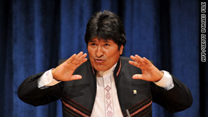 "Bolivian President Evo Morales said the U.S. Embassy officials had ""suspiciously"" been in touch with protest organizers."