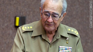 Cuba's defense minister, Julio Casa Regueiro, 75, died suddenly on Saturday from a heart attack.
