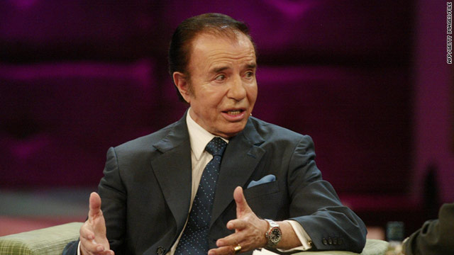 Former Argentinian President Carlos Menem was cleared Tuesday of illegal weapons trafficking.