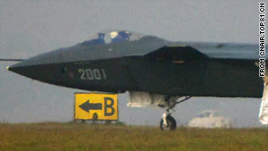 China's new stealth fighter jet, known as the J-20.