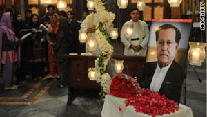 Salman Taseer, who opposed Pakistan's hardline blasphemy laws, was shot dead by one of his own security guards.