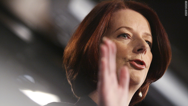 Prime Minister Julia Gillard on Thursday in Canberra details the damage bill and government's recovery package for the floods.
