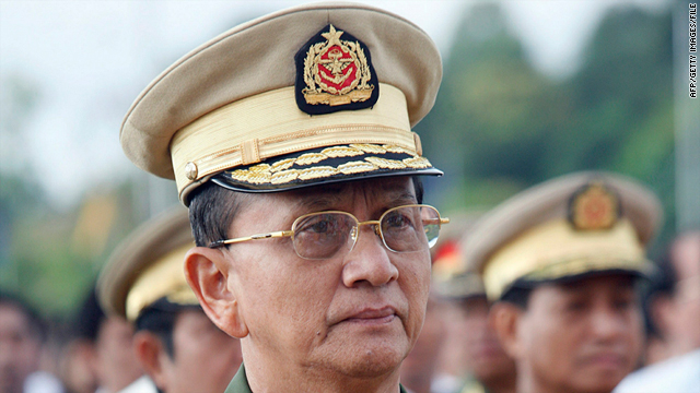 This October 18, 2007, picture shows then newly-appointed Myanmar PM General Thein Sein in Naypyidaw.