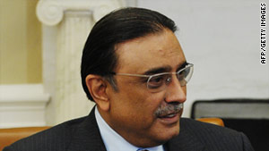 "Pakistani President Asif Ali Zardari's office said Zardari's goal is to have ""a mean, lean and aboveboard Cabinet."""