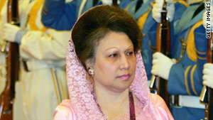 Former Prime Minister Khaleda Zia's Bangladesh Nationalist Party called a daylong strike against the government Monday.