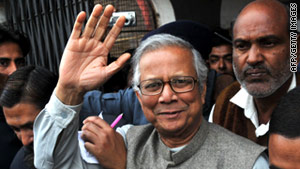 Muhammad Yunus is under pressure from the government to resign from the bank he founded nearly three decades ago.