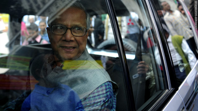 The Bangladeshi government says it has fired Nobel laureate Muhammad Yunus from the bank he founded nearly 30 years ago.