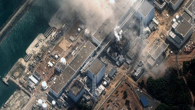 Imagery of the Fukushima Daiichi Nuclear Power Plant, taken by DigitalGlobe on March 14, 2011.