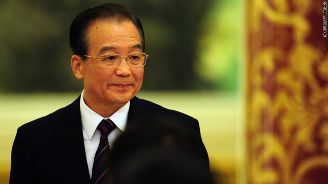 Chinese Premier Wen Jiabao arrives for his annual press conference in Beijing on Monday.