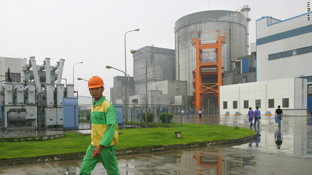 The  Qinshan Nuclear Power Plant in China's southeast Zhejiang Province: China froze nuclear plant approvals Wednesday.