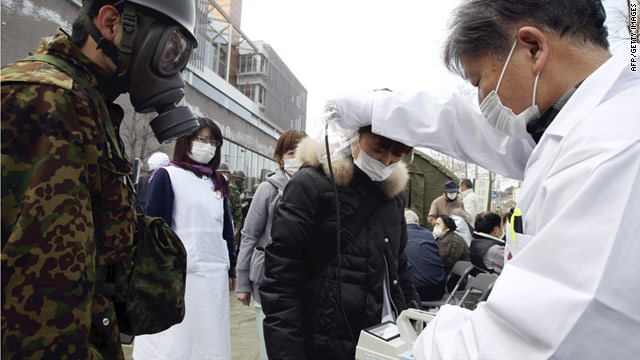 Thousands of people living near the troubled Fukushima Daiichi nuclear power plant have been evacuated from their homes.