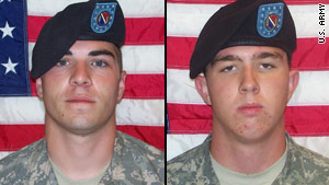 Spc. Jeremy Morlock, left, and Pfc. Andrew Holmes are facing charges relating to the wrongful deaths of Afghan civilians.