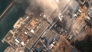 An aerial view of the Fukushima Daiichi nuclear plant
