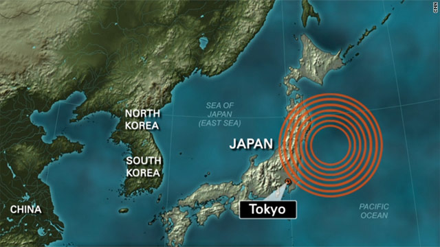 Monday's 6.5-magnitude temblor was located near the site of the 9.0-magnitude March 11 earthquake.