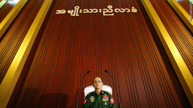 Lieutenant General Thein Sein, sworn in as the new president of Myanmar, shown in a file picture from 2006.