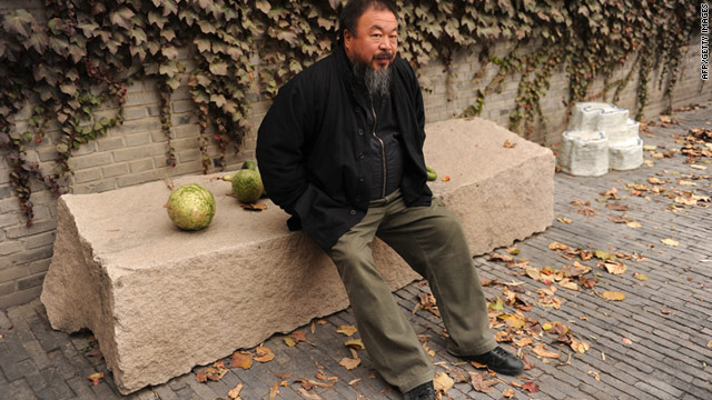 Ai Weiwei, shown in this file picture, has not been seen since Sunday when he was en route to Hong Kong.