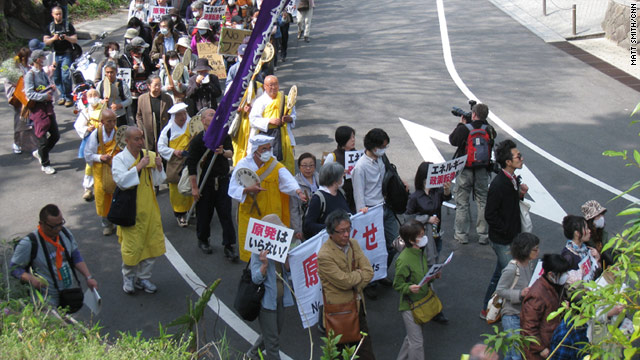 More than 2,000 people demonstrated in Tokyo on Sunday against the use of nuclear power in Japan.