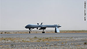U.S. military drones, like the one above, are often used in Afghanistan by NATO forces.