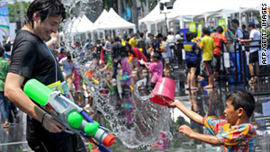 Liquid refreshment at Songkran in Thailand
