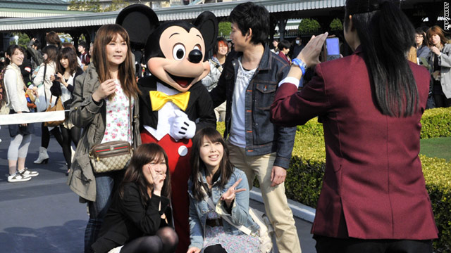 Tokyo's Disneyland reopened Friday for the first time since the March 11 earthquake and tsunami.