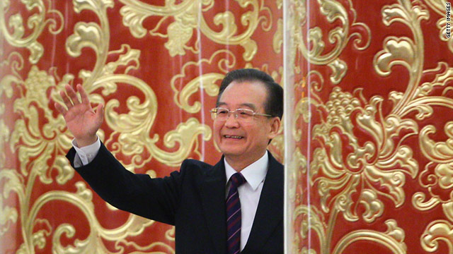 China's Premier Wen Jiabao during his annual press conference at the Great Hall of the People in Beijing on March 14.