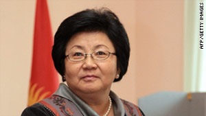 Kyrgyz President Rosa Otunbayeva said her country is traveling &quot;a difficult, thorny road&quot; after its revolution last year.