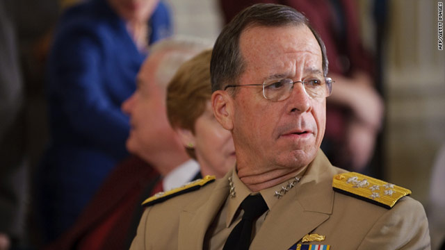 Chairman of the Joint Chiefs of Staff Admiral Michael Mullen, shown above. Pakistani officials have dismissed claims.