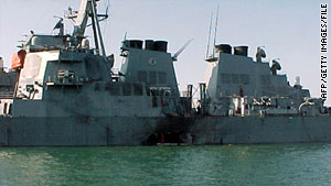 USS Cole in Yemen in October, 2000.