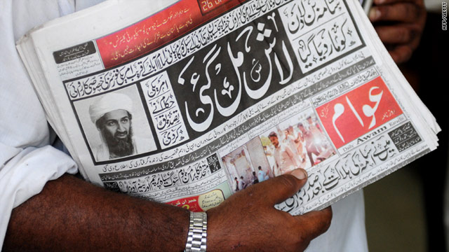 A newspaper vendor in Pakistan -- reaction to the death of Osama bin Laden has been more subdued in other parts of the world.