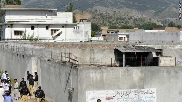 Osama bin Laden's compound in Abbottabad, Pakistan, was surrounded by high walls and topped by barbed wire.