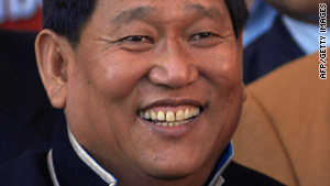Indian home ministry spokesman Onkar Kedia confirmed the death of Dorjee Khandu (pictured in 2009).