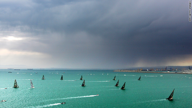 The fleet in action during the America's Cup Series in 2007. This year sees the inaugral participation of a Korean team.