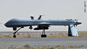 A library picture of a U.S. predator drone similar to the one used in an attack that killed four suspected militants.