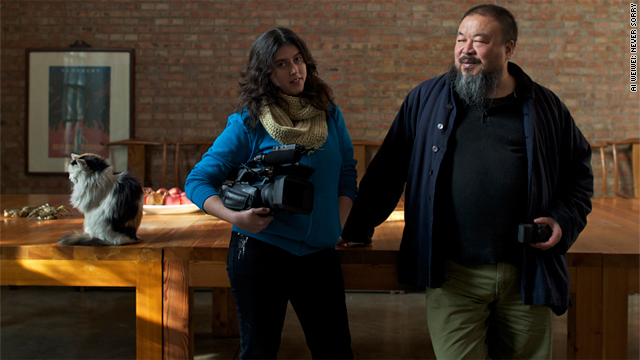 American documentary filmmaker Alison Klayman and Chinese artist Ai Weiwei.