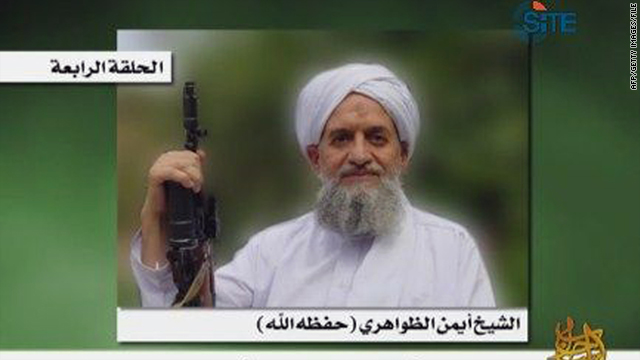 Ayman al-Zawahiri as seen in a photo obtained March 3 when an earlier audio speech by him was posted on jidhadist forums.