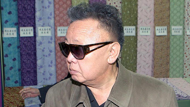 This undated photo released by North Korean state media on May 8 shows Kim Jong Il visiting the Pyongyang Textile Mill.