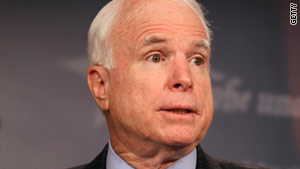 "John McCain (file photo) wrapped up a two day ""assessment"" trip in Myanmar on Friday."