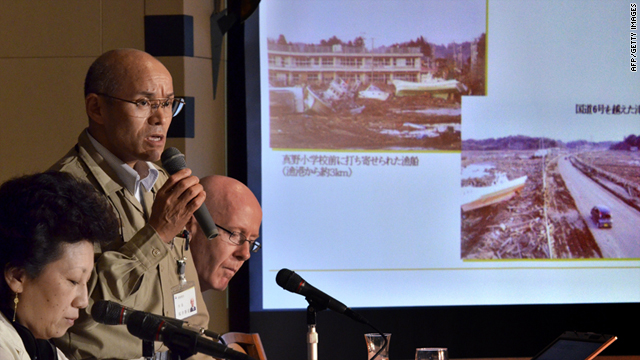 Katsunobu Sakurai, Minamisoma city mayor of Fukushima prefecture, speaks before the press in Tokyo on Thursday.