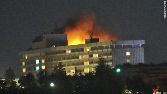 Key information from a U.S. Predator drone helped end Tuesday night's siege on the Hotel Inter-Continental in Kabul, Afghanistan.