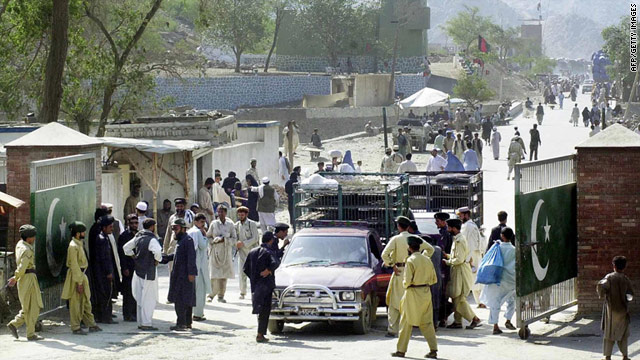 A border crossing between Pakistan and Afghanistan. The Haqqani network is believed to operate on both sides of the  border.