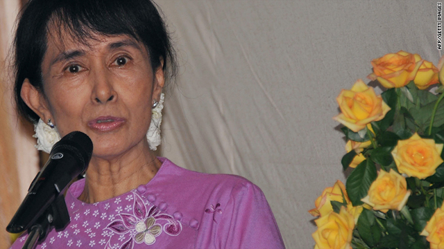 Myanmar diplomat Kyaw Win warned about threats made to pro-democracy leader Aung San Suu Kyi, pictured.