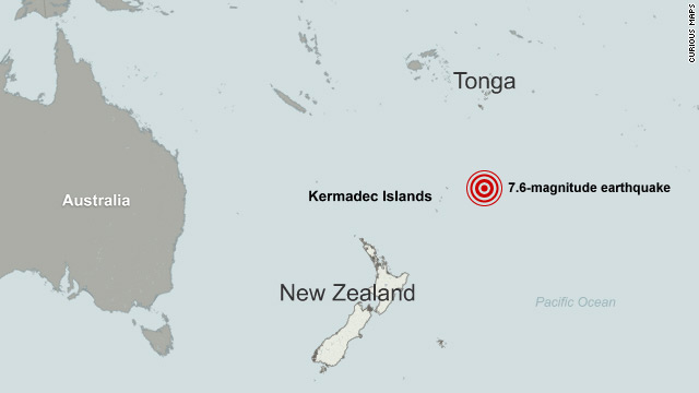 Tsunami detected after quake jolts area north of New Zealand