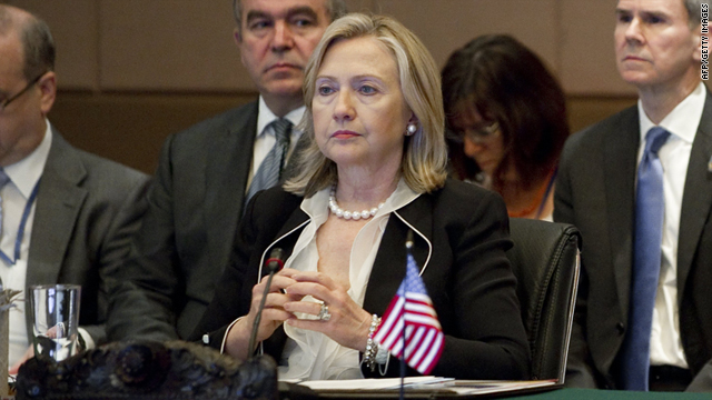 U.S. Secretary of State Hillary Clinton at the ASEAN Ministerial Meeting on July 22.