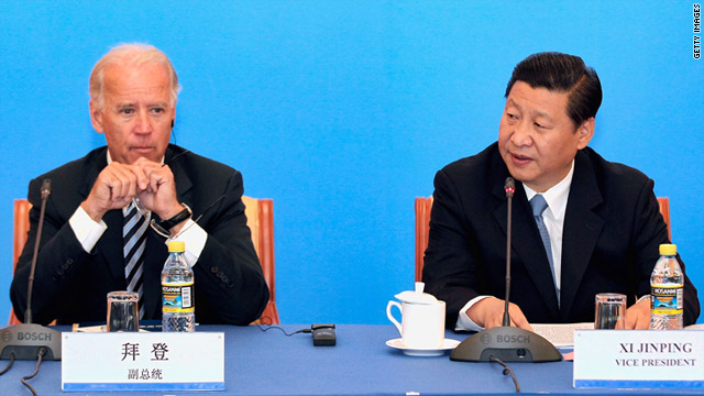 Chinese Vice President Xi Jinping plays host to Vice President Joe Biden on Friday in Beijing.