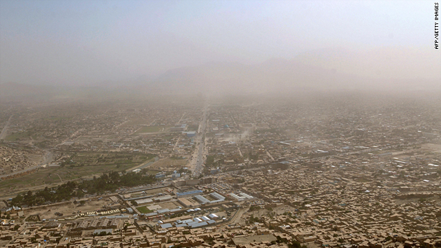 A general view from a hilltop overlooking Kabul in Afghanistan