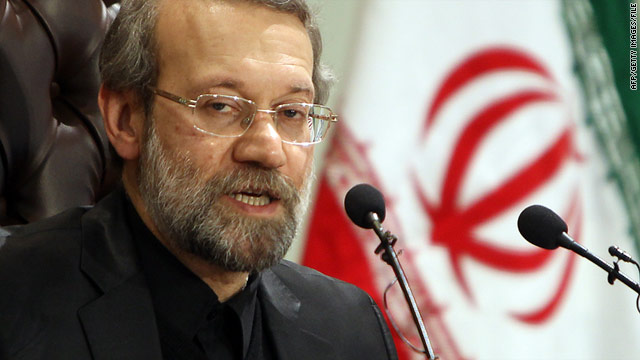 Iranian authorities say the visits to China and North Korea by parliamentary speaker Ali Larijani will be rescheduled.